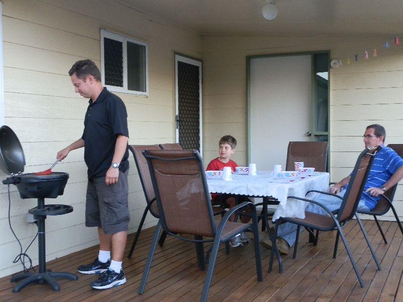 Enjoying a BBQ on the back deck